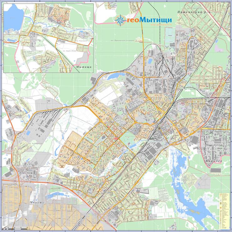 карта города Щёлково и